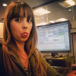 A thowback picture of me sitting at my office computer looking bored.